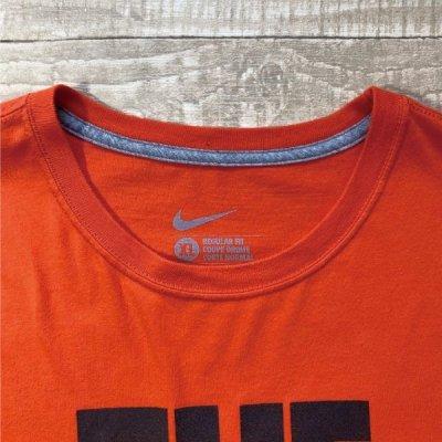 画像1: 「NIKE(ナイキ)」MLB ボルチモア・オリオールズ O's THE BIRDS オレンジ Tシャツ