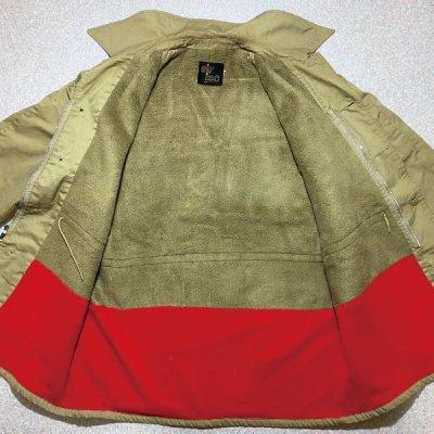 画像1: 「sir jac(サージャック)」ベージュ 50s 60s ボアライニング ステンカラー コート