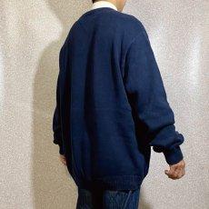 画像19: 「Tommy Hilfiger(トミーヒルフィガー)」ネイビー ローゲージ クルーネック コットンニット (19)