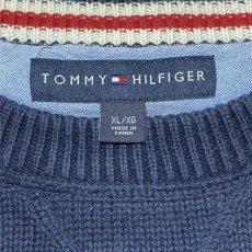 画像6: 「Tommy Hilfiger(トミーヒルフィガー)」ネイビー ローゲージ クルーネック コットンニット (6)