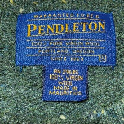 画像3: 「PENDLETON(ペンドルトン)」カーキ メランジ ローゲージ ニット