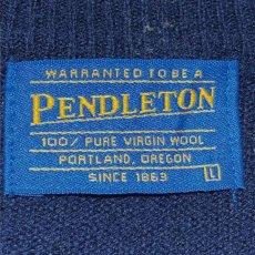 画像5: 「PENDLETON(ペンドルトン)」ネイビー  ワンポイント ハイゲージ ニット (5)