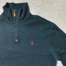 画像4: 「Polo RALPH LAUREN(ポロ ラルフローレン)」ポニー刺繍 ハーフジップ ブラック ニット (4)