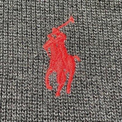 画像1: 「Polo RALPH LAUREN(ポロ ラルフローレン)」ポニー刺繍 ハーフジップ ブラック ニット