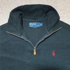 画像6: 「Polo RALPH LAUREN(ポロ ラルフローレン)」ポニー刺繍 ハーフジップ ブラック ニット (6)