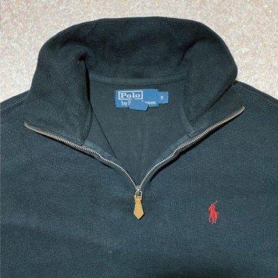 画像2: 「Polo RALPH LAUREN(ポロ ラルフローレン)」ポニー刺繍 ハーフジップ ブラック ニット