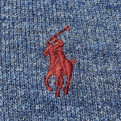 画像1: 「POLO RALPH LAUREN(ポロ ラルフローレン)」ポニー刺繍 ハーフジップ ネイビー ニット