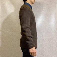 画像18: 「BRIGADE QUARTERMASTERS(ブリゲード クオーターマスター)」ブラウン 民間品 Vネック コマンド ニット (18)