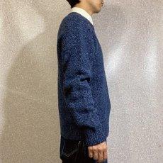 画像18: 「L.L.Bean(エルエルビーン)」ブルー メランジ ラムズウール 肉厚 ローゲージ クルーネック ニット (18)