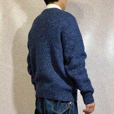画像19: 「L.L.Bean(エルエルビーン)」ブルー メランジ ラムズウール 肉厚 ローゲージ クルーネック ニット (19)