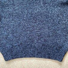 画像6: 「L.L.Bean(エルエルビーン)」ブルー メランジ ラムズウール 肉厚 ローゲージ クルーネック ニット (6)