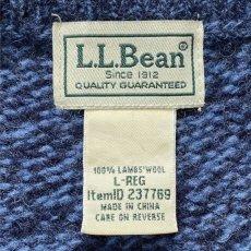 画像7: 「L.L.Bean(エルエルビーン)」ブルー メランジ ラムズウール 肉厚 ローゲージ クルーネック ニット (7)
