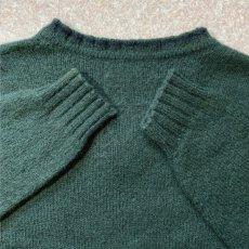 画像10: 「Polo RALPH LAUREN(ポロ ラルフローレン)」ポニー刺繍 Vネック ダークグリーン ニット (10)