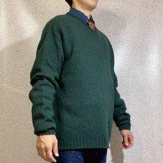 画像17: 「Polo RALPH LAUREN(ポロ ラルフローレン)」ポニー刺繍 Vネック ダークグリーン ニット (17)