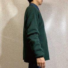 画像18: 「Polo RALPH LAUREN(ポロ ラルフローレン)」ポニー刺繍 Vネック ダークグリーン ニット (18)