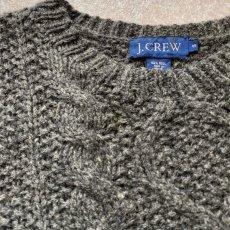画像13: 「J.Crew(J.クルー)」ウール チャコール アラン フィッシャーマンズ セーター ニット (13)