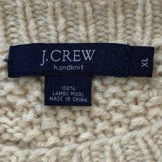 画像5: 「J.Crew(J.クルー)」ラムズウール アイボリー アラン フィッシャーマンズセーター ニット (5)