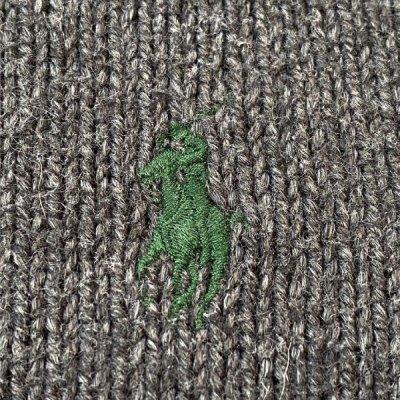 画像1: 「POLO RALPH LAUREN(ポロ ラルフローレン)」ポニー刺繍 ハーフジップ チャコール ニット