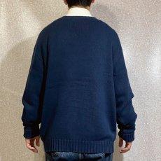 画像20: 「Polo RALPH LAUREN(ポロ ラルフローレン)」ポニー刺繍 クルーネック ネイビー ニット (20)