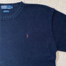 画像4: 「Polo RALPH LAUREN(ポロ ラルフローレン)」ポニー刺繍 クルーネック ネイビー ニット (4)