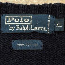 画像6: 「Polo RALPH LAUREN(ポロ ラルフローレン)」ポニー刺繍 クルーネック ネイビー ニット (6)