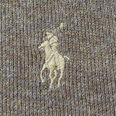 画像1: 「Polo RALPH LAUREN(ポロ ラルフローレン)」ポニー刺繍 ハーフジップ キャメル ニット