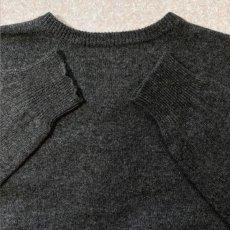 画像10: 「Polo RALPH LAUREN(ポロ ラルフローレン)」ポニー刺繍 Vネック チャコール ニット (10)