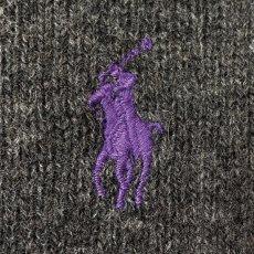 画像5: 「Polo RALPH LAUREN(ポロ ラルフローレン)」ポニー刺繍 Vネック チャコール ニット (5)