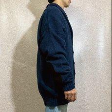 画像18: 「Eddie Bauer(エディー バウアー)」ネイビー メランジ エルボーパッチ付き ショールカラー ニット カーディガン (18)