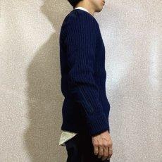 画像18: 「L.L.Bean(エルエルビーン)」ネイビー コマンド イングランド製 ウール ニット (18)