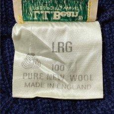 画像6: 「L.L.Bean(エルエルビーン)」ネイビー コマンド イングランド製 ウール ニット (6)