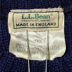 画像7: 「L.L.Bean(エルエルビーン)」ネイビー コマンド イングランド製 ウール ニット (7)