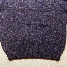 画像10: 「Wool rich(ウール リッチ)」パープル メランジ クルーネック ウール ニット (10)
