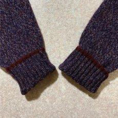 画像13: 「Wool rich(ウール リッチ)」パープル メランジ クルーネック ウール ニット (13)