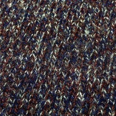 画像1: 「Wool rich(ウール リッチ)」パープル メランジ クルーネック ウール ニット