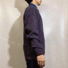 画像18: 「Wool rich(ウール リッチ)」パープル メランジ クルーネック ウール ニット (18)