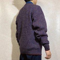 画像19: 「Wool rich(ウール リッチ)」パープル メランジ クルーネック ウール ニット (19)