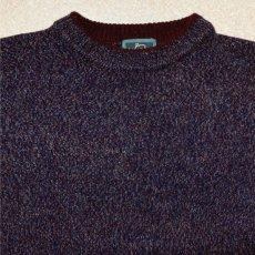 画像3: 「Wool rich(ウール リッチ)」パープル メランジ クルーネック ウール ニット (3)