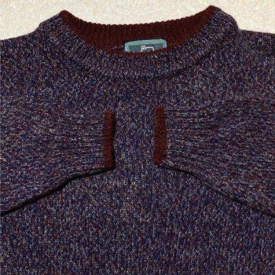 画像2: 「Wool rich(ウール リッチ)」パープル メランジ クルーネック ウール ニット
