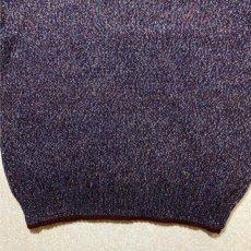 画像6: 「Wool rich(ウール リッチ)」パープル メランジ クルーネック ウール ニット (6)