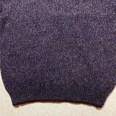 画像3: 「Wool rich(ウール リッチ)」パープル メランジ クルーネック ウール ニット