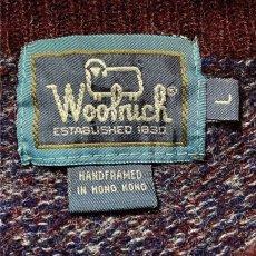 画像7: 「Wool rich(ウール リッチ)」パープル メランジ クルーネック ウール ニット (7)