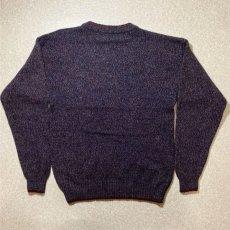 画像8: 「Wool rich(ウール リッチ)」パープル メランジ クルーネック ウール ニット (8)