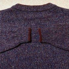 画像9: 「Wool rich(ウール リッチ)」パープル メランジ クルーネック ウール ニット (9)