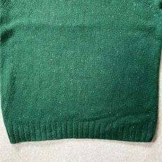 画像10: 「NAUTICA(ノーティカ)」グリーン ハーフボタン ワンポイント刺繍 メランジ ニット (10)