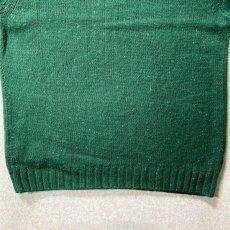 画像12: 「NAUTICA(ノーティカ)」グリーン ハーフボタン ワンポイント刺繍 メランジ ニット (12)