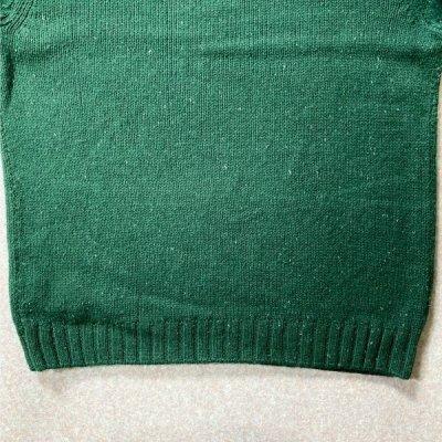 画像3: 「NAUTICA(ノーティカ)」グリーン ハーフボタン ワンポイント刺繍 メランジ ニット