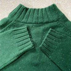 画像13: 「NAUTICA(ノーティカ)」グリーン ハーフボタン ワンポイント刺繍 メランジ ニット (13)