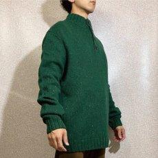 画像17: 「NAUTICA(ノーティカ)」グリーン ハーフボタン ワンポイント刺繍 メランジ ニット (17)