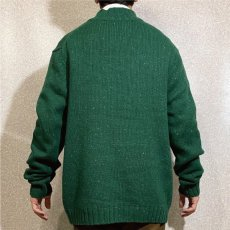 画像20: 「NAUTICA(ノーティカ)」グリーン ハーフボタン ワンポイント刺繍 メランジ ニット (20)